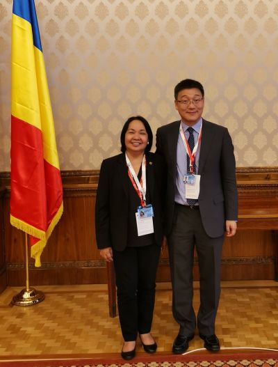 Chancellor Bandalaria with Mr. Libing Wang of the UNESCO Asia and Pacific Regional Bureau for Education