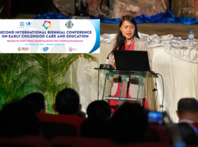 Ms. Sherilyn Sia, a UPOU Master of Distance Education graduate served as one of the speakers during the Second International Biennial Conference on Early Childhood Care and Education