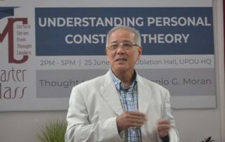 """Dr. Antonio G. Moran, a retired Associate Professor and former Dean from the University of the Philippines Mindanao, served as thought leader for the Special Masterclass featuring the topic """"Understanding Personal Construct Theory."""""""