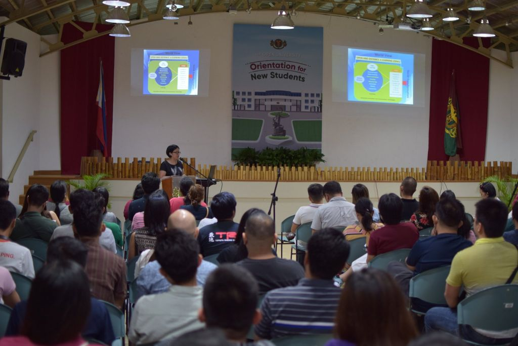 The Orientation for New Students held on 31 August 2019 was attended by more than 350 UPOU graduate, undergraduate and non-degree students, both physically and online.