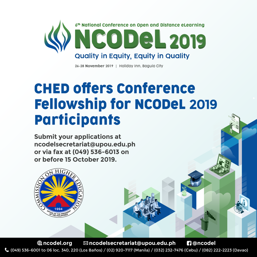 CHED Fellowship for NCODeL2019