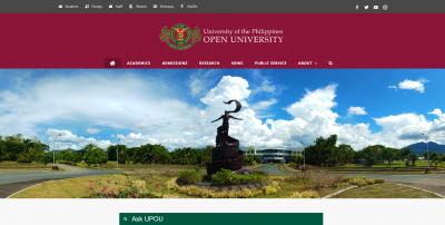 The new UPOU website (www.upou.edu.ph) is designed with more accessible and more inclusive features.