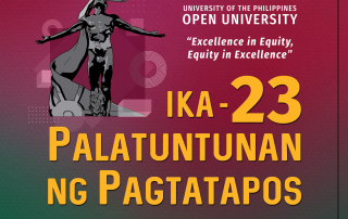 The 23rd UPOU Commencement Exercises will be held on 12 October 2019.