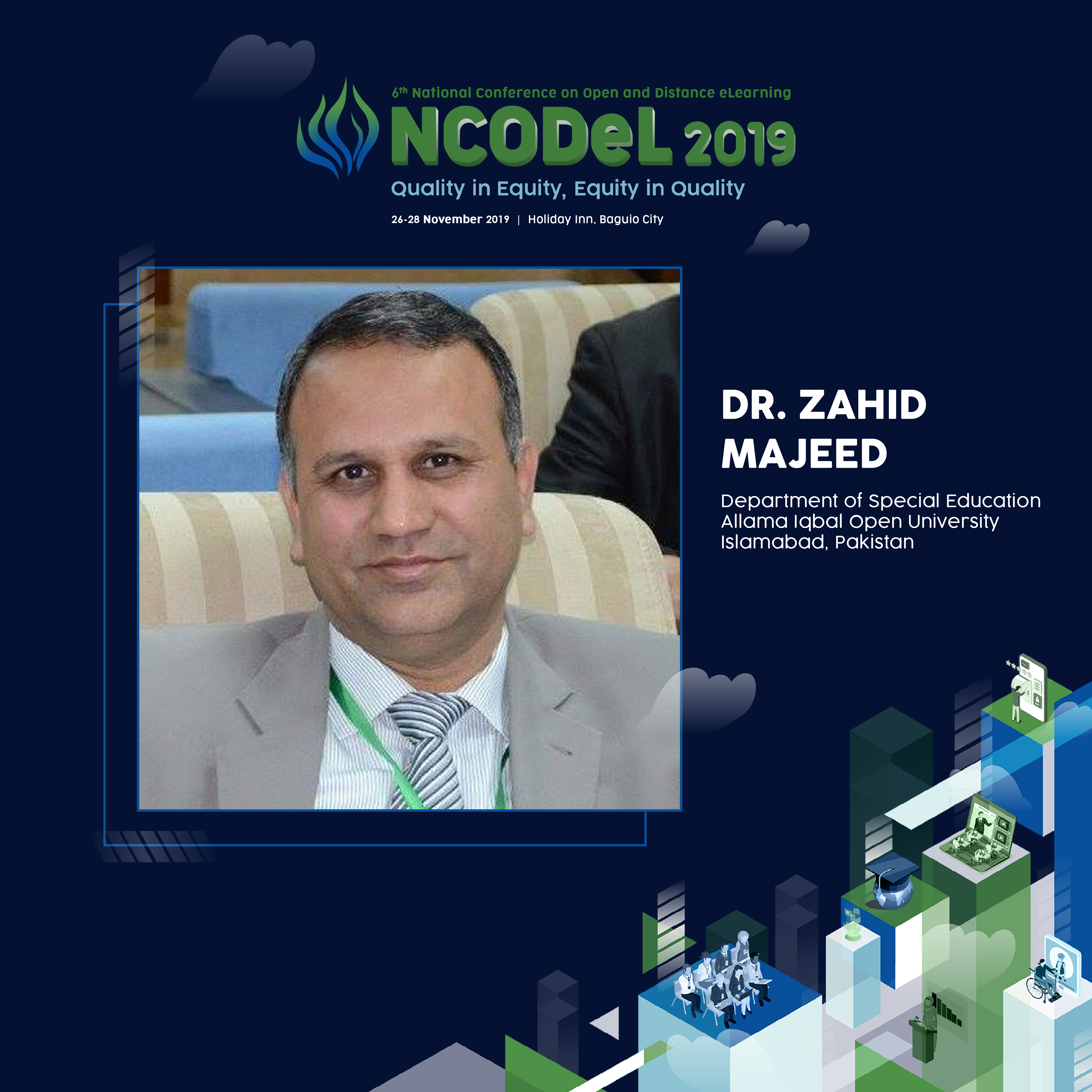 Dr. Zahid Majeed will be one of teh NCODeL 2019 speakers.