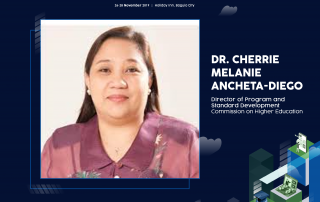 Dr. Cherrie Melanie Ancheta-Diego, CHED Director for Programs and Standards Development, shall serve as a Plenary Speaker for the 6th National Conference on Open and Distance eLearning (NCODeL 2019).
