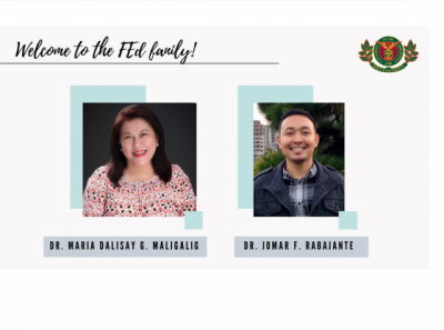 Dr. Maria Dalisay G. Maligalig and Dr. Jomar F. Rabajante, affiliate faculty members of the UPOU Faculty of Education are the new Program Chairs of the Diploma in Science Teaching (DST) and Diploma in Mathematics Teaching (DMT), respectively.