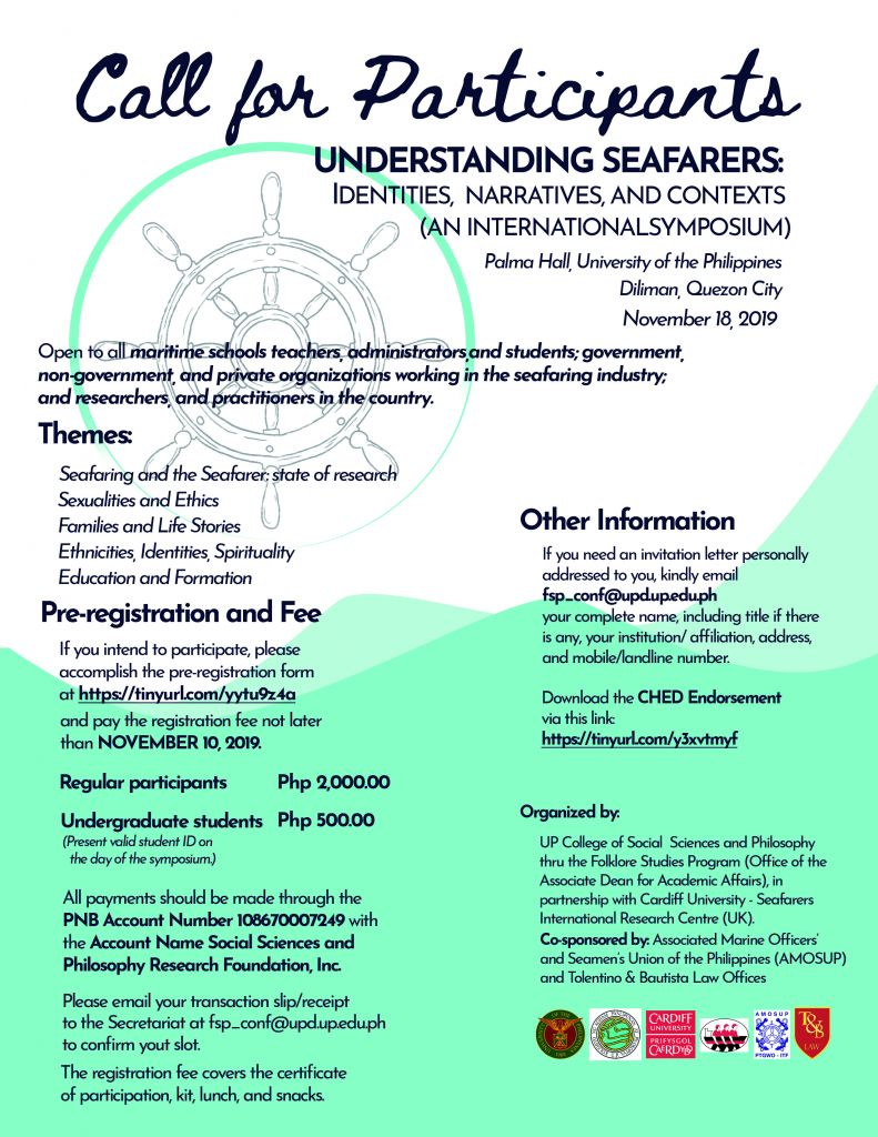 Understanding Seafarers: Identities, Narratives and Contexts
