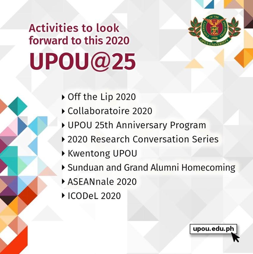 UPOU 25th Anniversary Activities