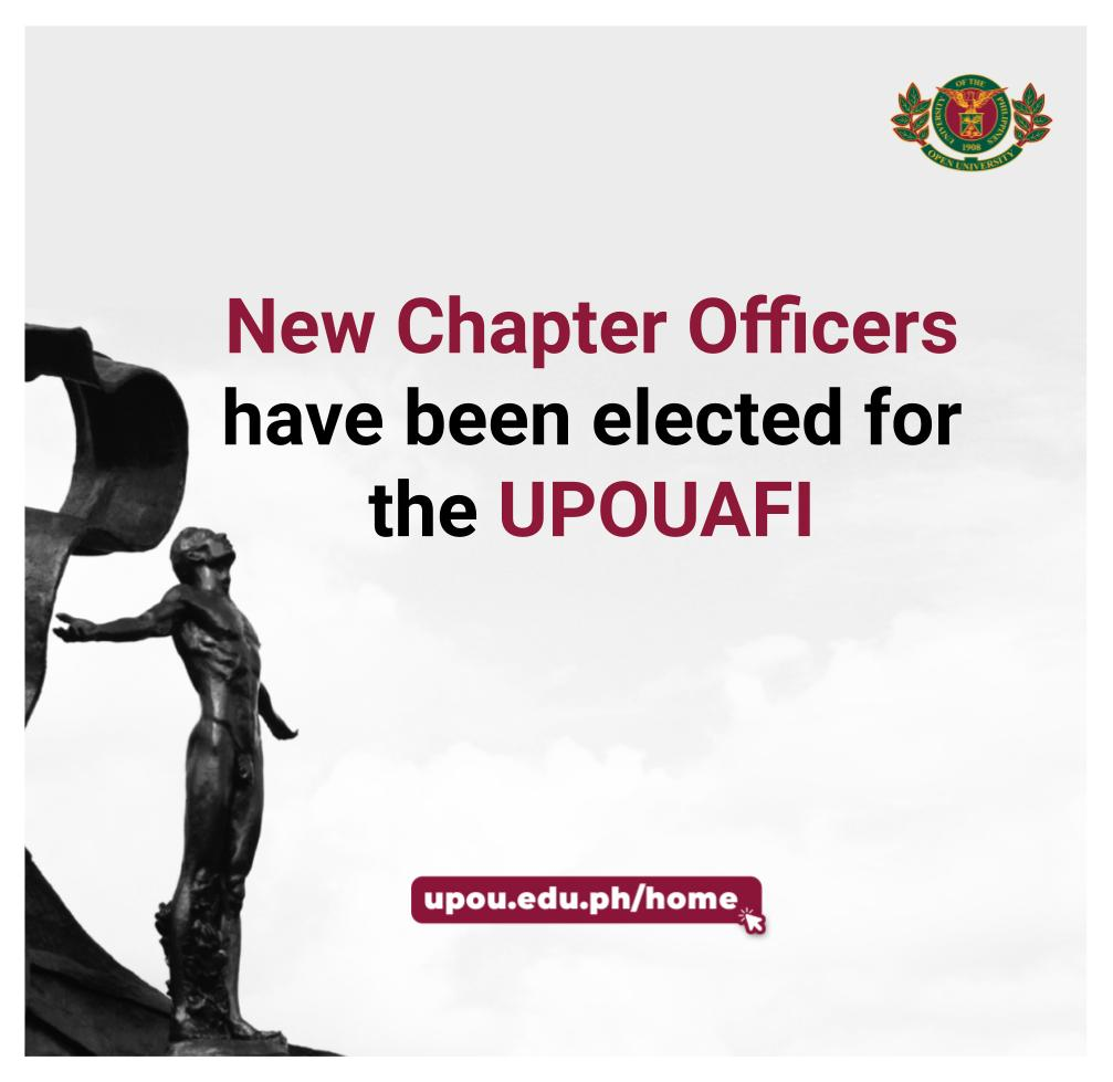 New Chapter Officers have been elected for UPOUAFI