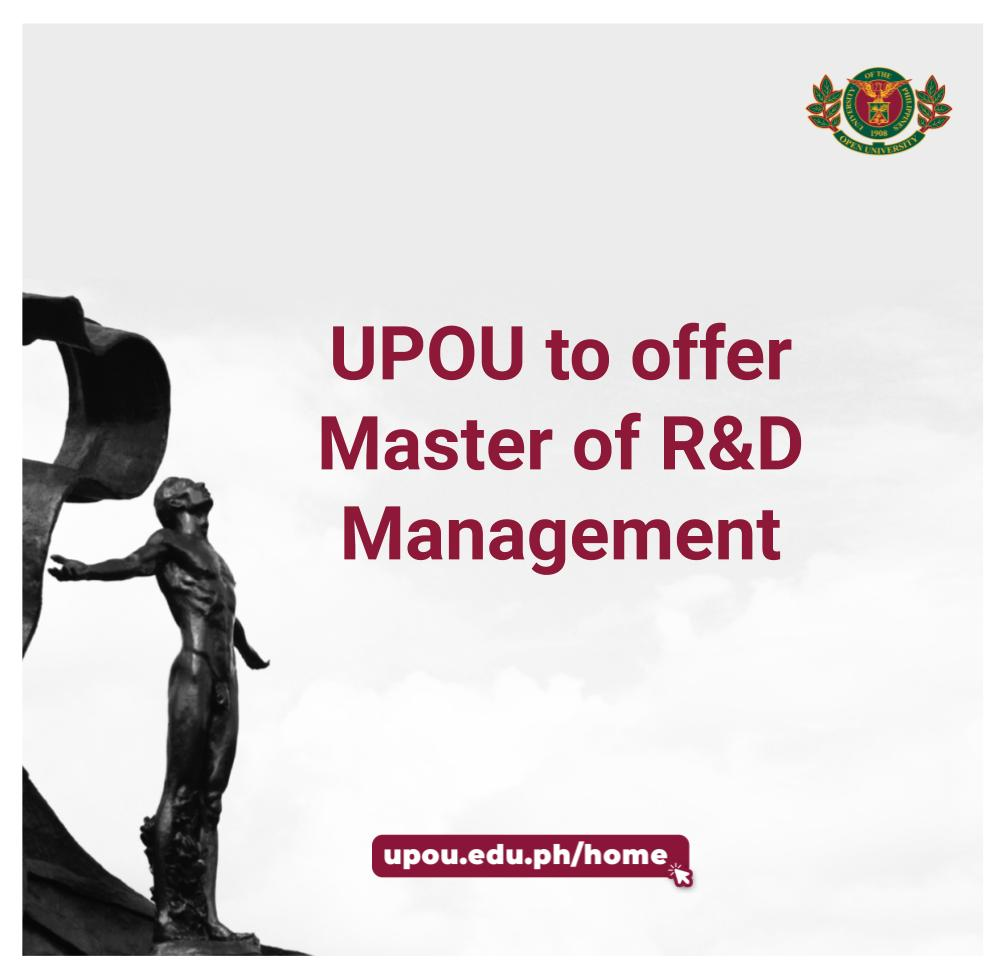 UPOU to offer master's program in R&D Management