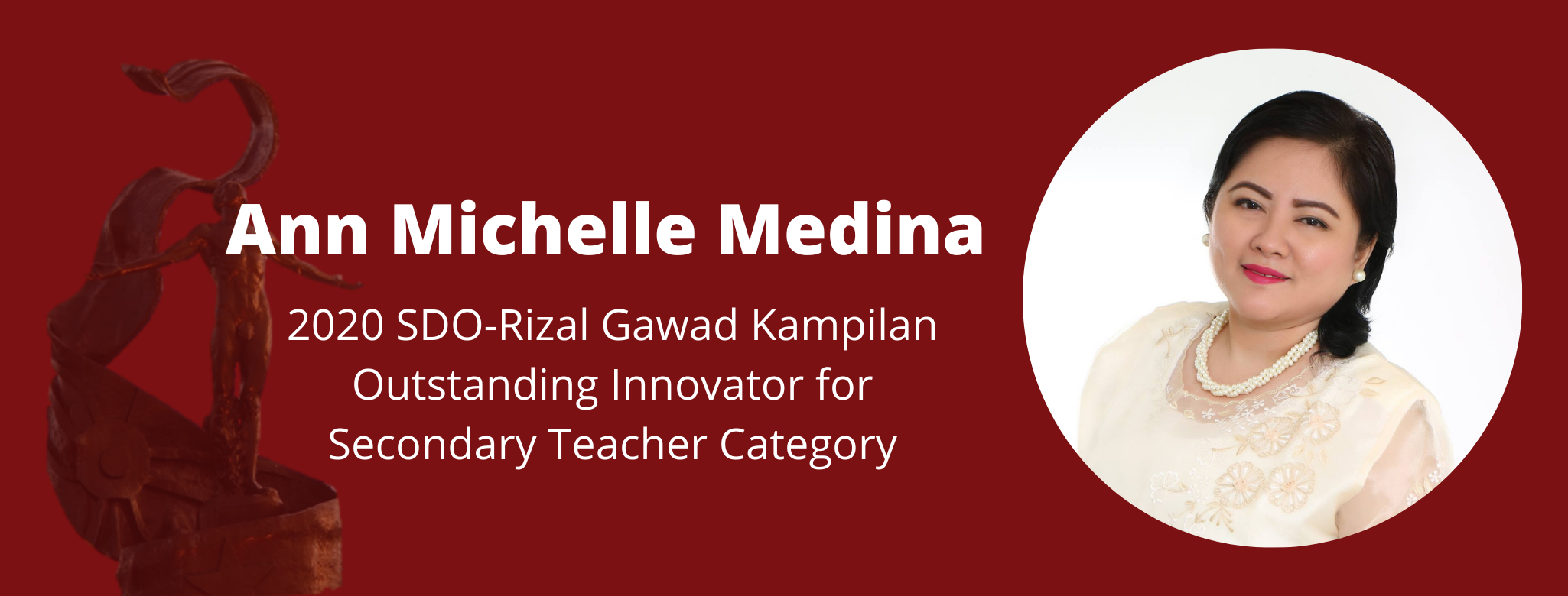 MDE student recognized as Outstanding Innovator at 2020 SDO-Rizal's Gawad Kampilan