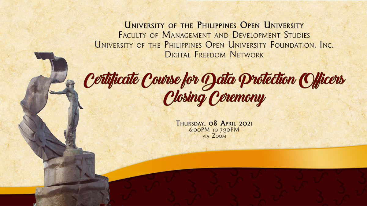 UPOU-FMDS holds the CCDPO's closing ceremony for its inaugural batch