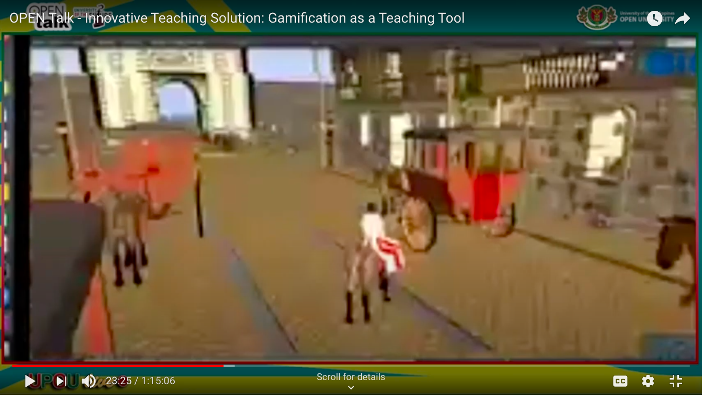 Asst. Prof. Roel Cantada created a gamified Philippine History for his students.