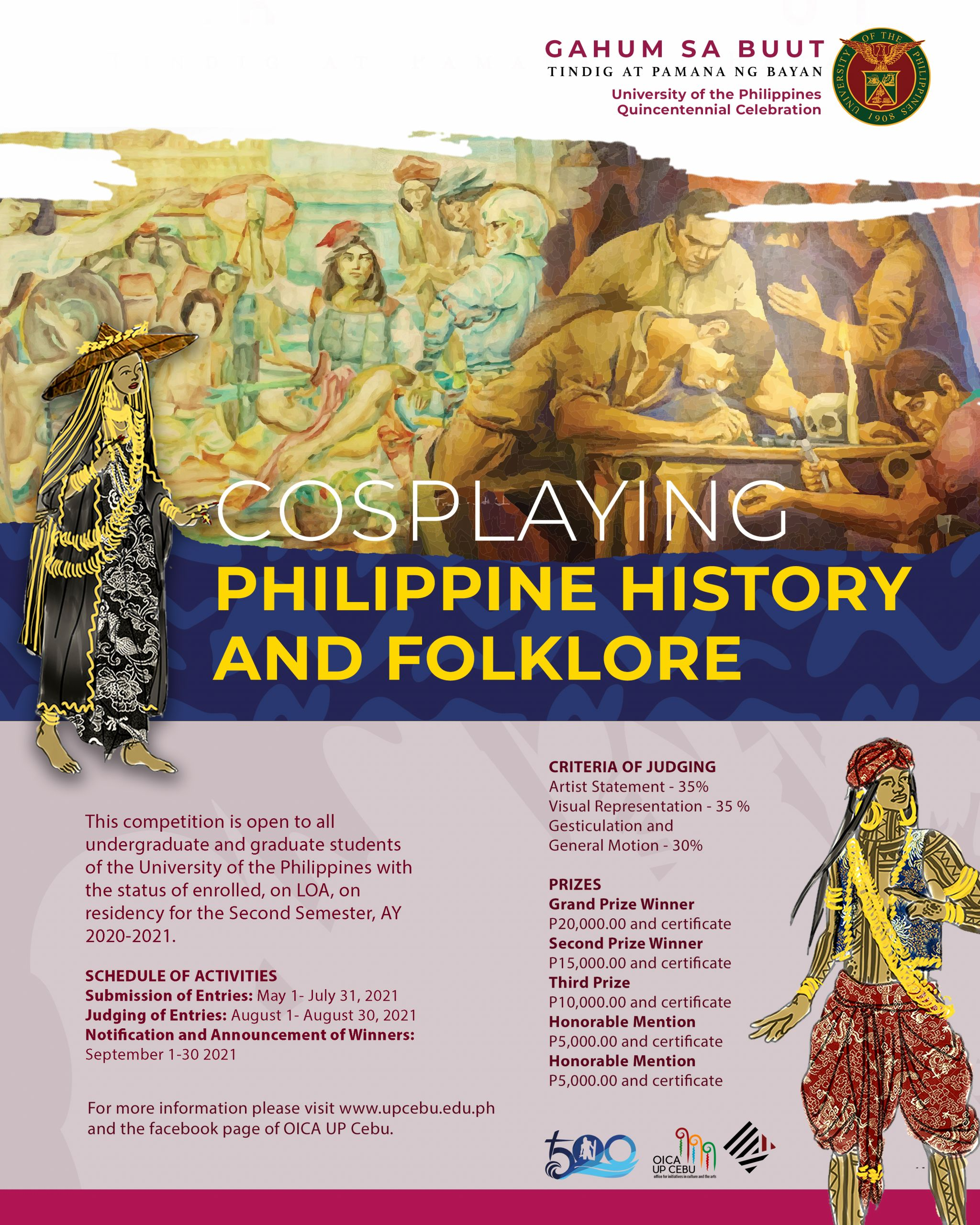 Cosplaying Philippine History and Folklore Poster