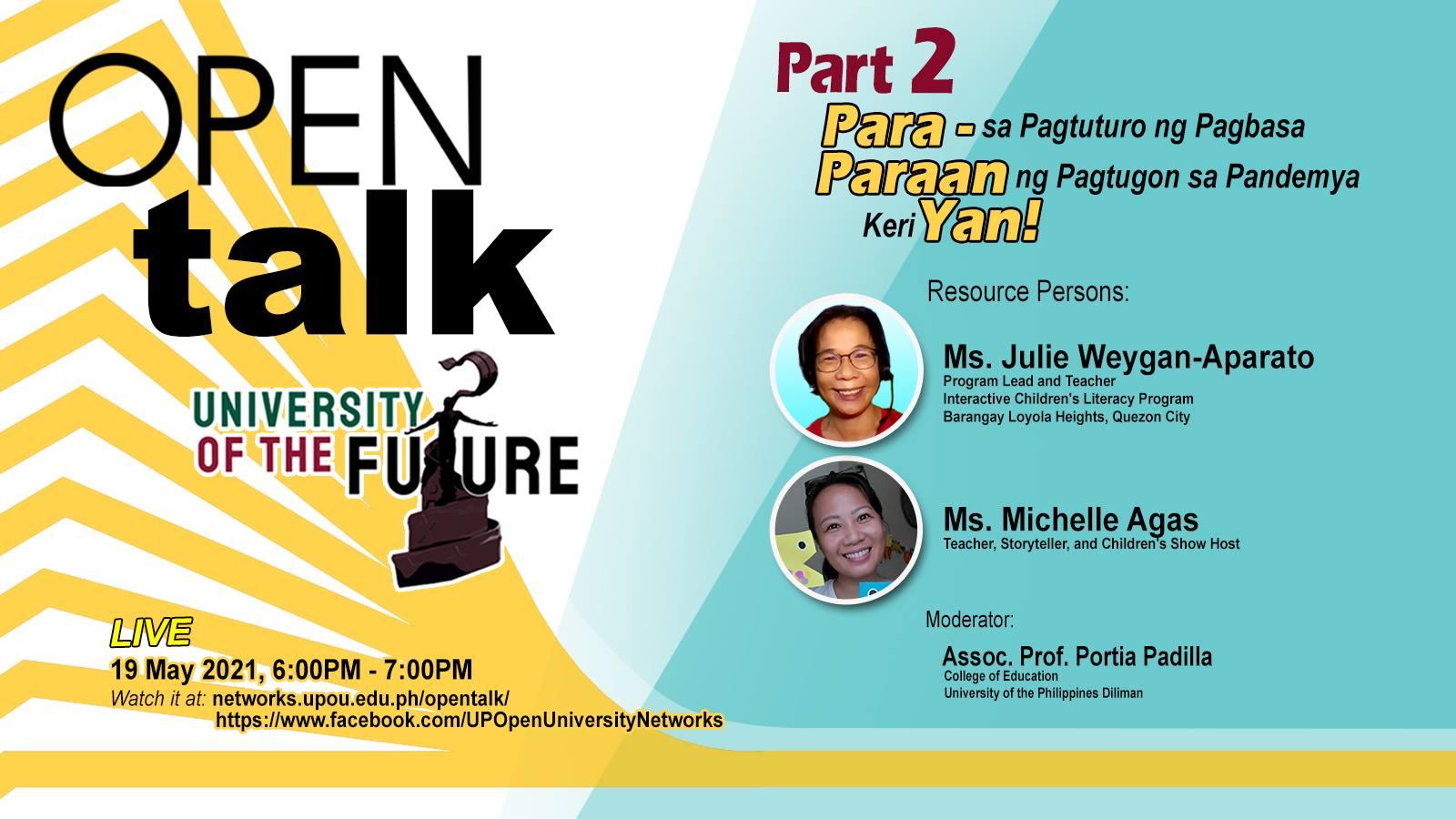 OPEN Talk Para Paraan Yan Part 2