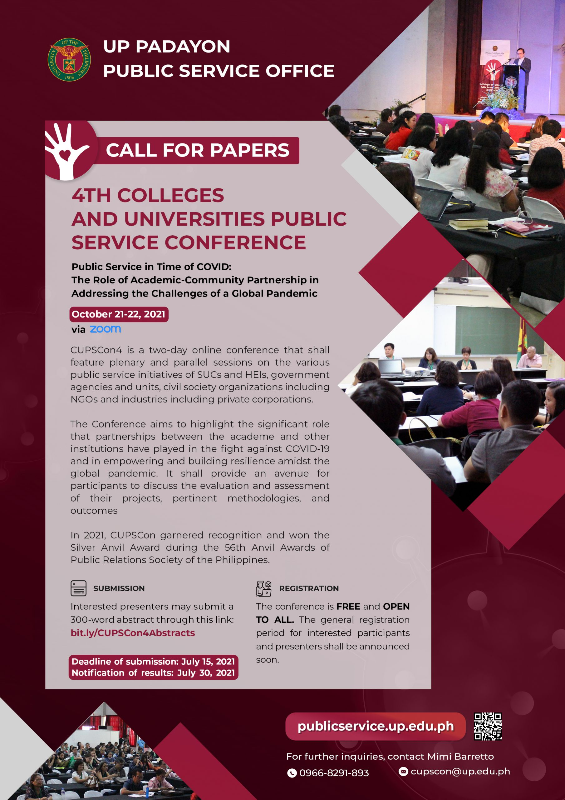 4th Colleges and Universities Public Service Conference (CUPSCon 4)