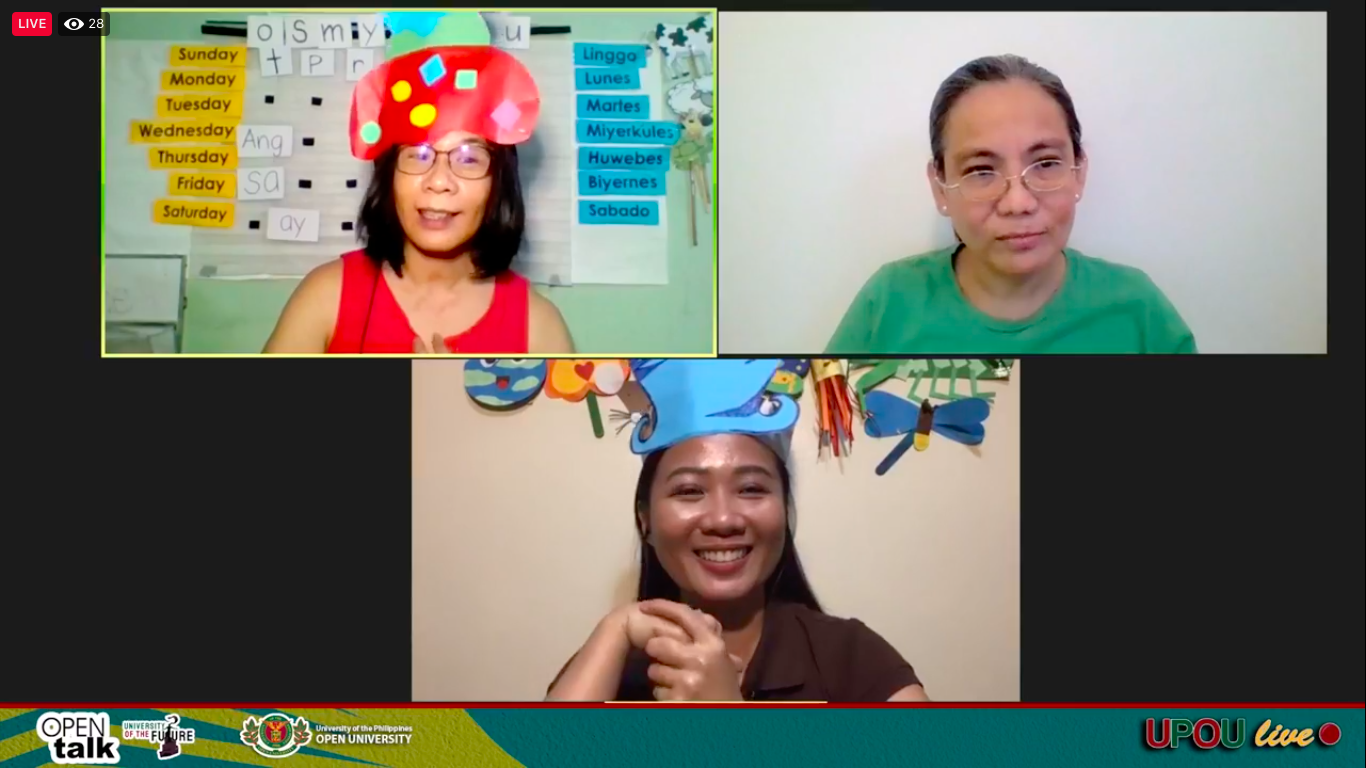 Left to Right: Ms. Julie Weygan-Aparato, Assoc. Prof. Portia Padilla, and Ms. Michelle Agas