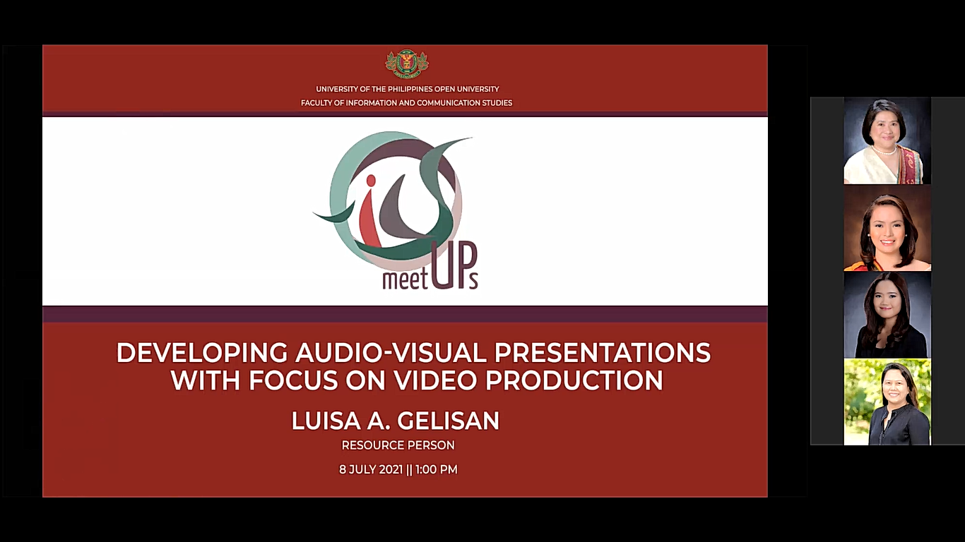 FICS MeetUps Tackles the Basics of Video Production with Multimedia Center Director Luisa A. Gelisan