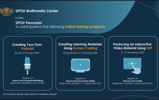 UPOU MC shall conduct three more online training programs