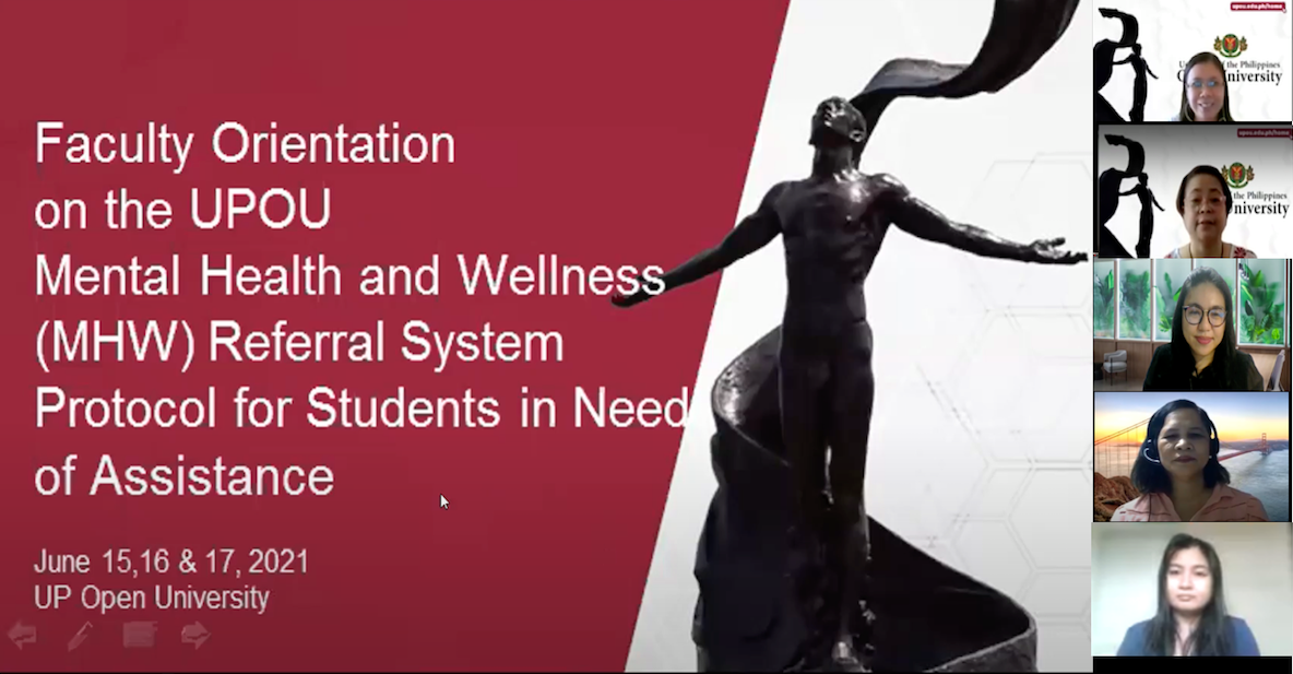OSA Conducts a Series of Webinars for Mental Health and Wellness Program