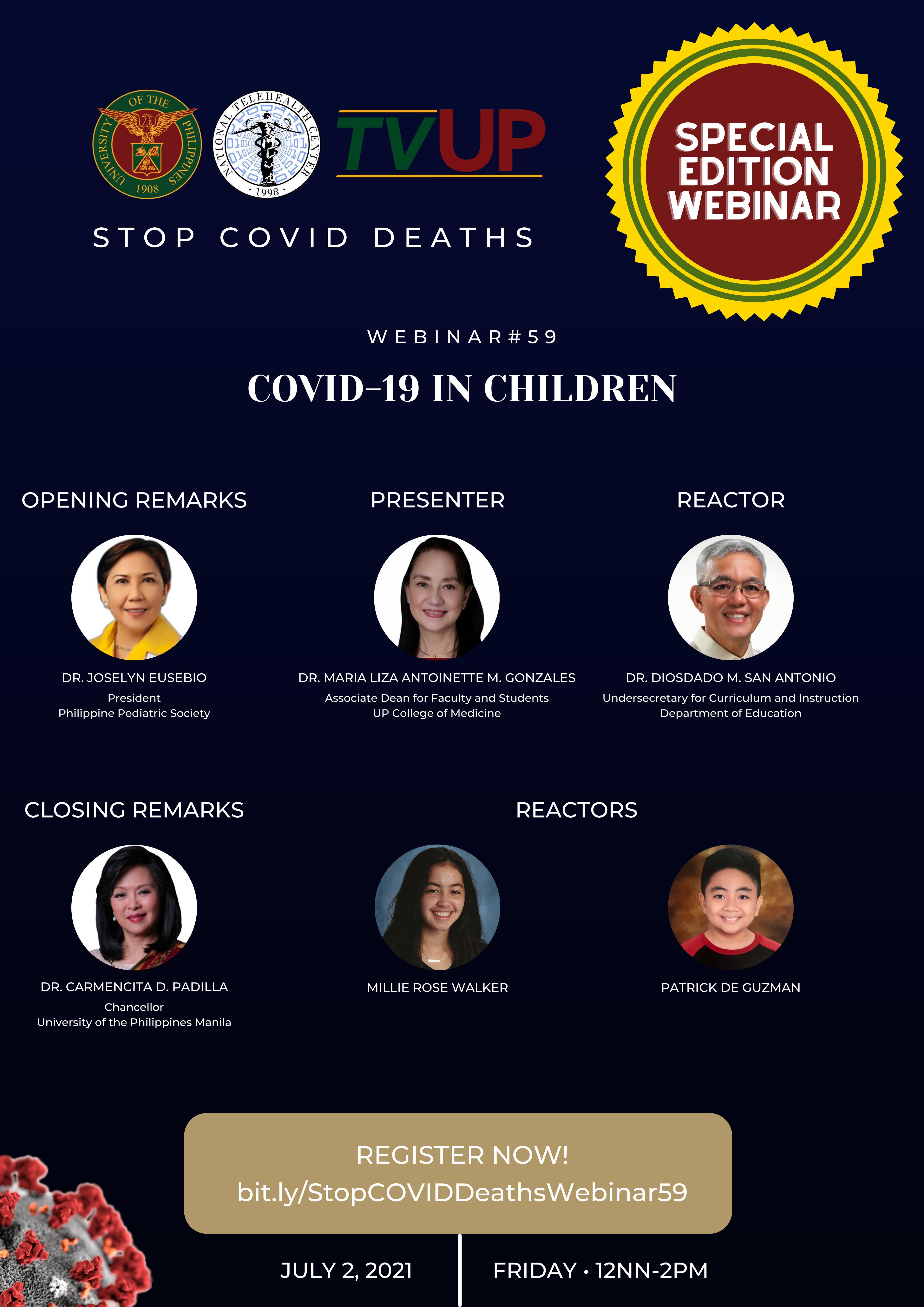 "Webinar #59 ""COVID-19 in Children"""