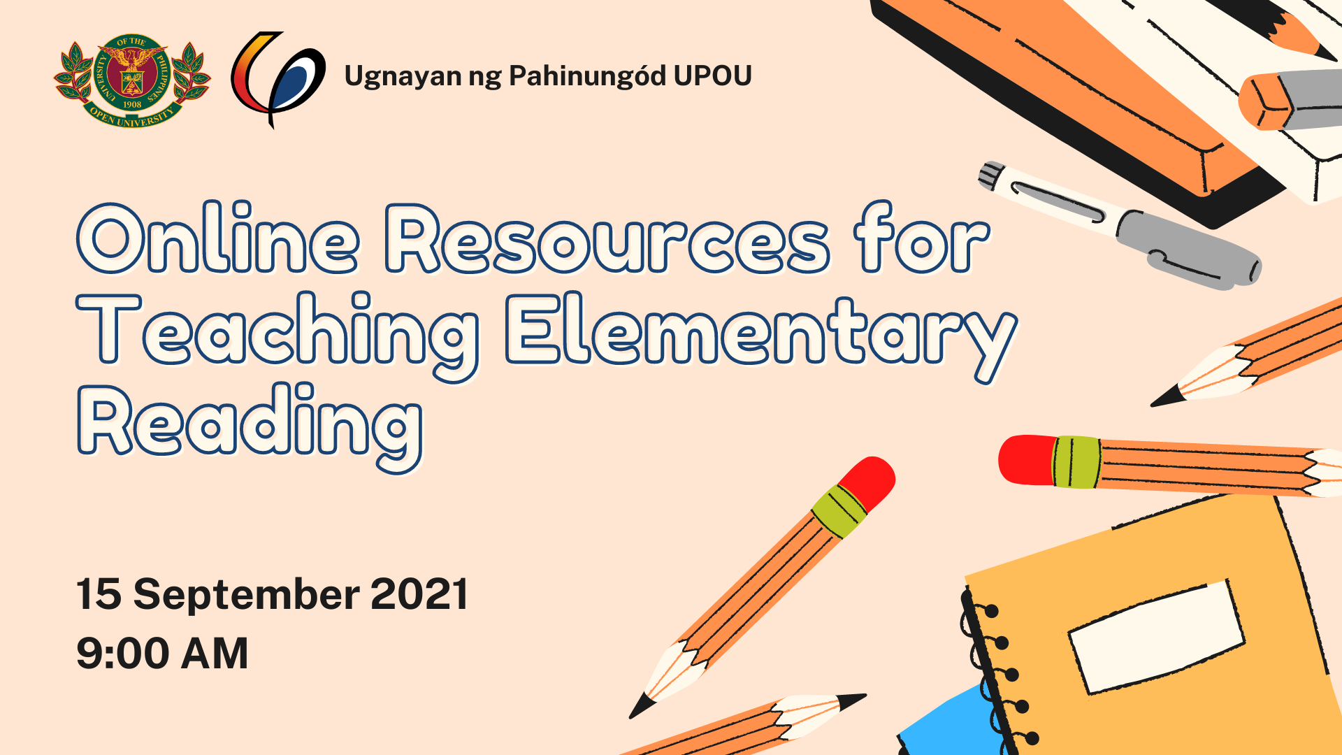 UPOU to hold Webinar on Online Resources for Teaching Elementary Reading